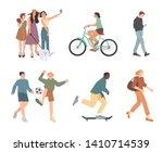 people. summer outdoors... | Shutterstock .eps vector #1410714539