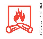 fireplace icon vector...