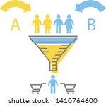 the digital marketing funnel... | Shutterstock .eps vector #1410764600