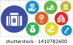currency icon set. 9 filled...   Shutterstock .eps vector #1410782600