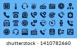 dial icon set. 32 filled dial... | Shutterstock .eps vector #1410782660