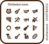 Orchestra Icon Set. 16 Filled...