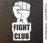 fight club vector logo with... | Shutterstock .eps vector #1410789713