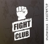 fight club vector logo with... | Shutterstock .eps vector #1410789719