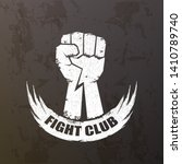 fight club vector logo with... | Shutterstock .eps vector #1410789740