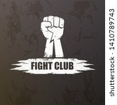 fight club vector logo with... | Shutterstock .eps vector #1410789743