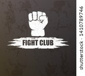 fight club vector logo with... | Shutterstock .eps vector #1410789746