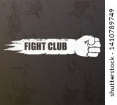 fight club vector logo with... | Shutterstock .eps vector #1410789749