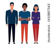 group of friends avatar cartoon ... | Shutterstock .eps vector #1410807563