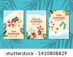 set of summer holidays and... | Shutterstock .eps vector #1410808829