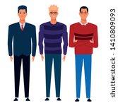 three men avatar cartoon... | Shutterstock .eps vector #1410809093