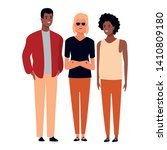 group of friends avatar cartoon ... | Shutterstock .eps vector #1410809180