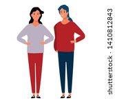 women avatar cartoon character  ... | Shutterstock .eps vector #1410812843