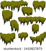 Set Of Swamp Moss Of Different...
