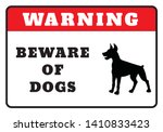 warning board beware of dogs... | Shutterstock .eps vector #1410833423