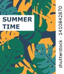 colorful summer poster with... | Shutterstock .eps vector #1410842870