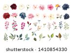 set of floral elements. flower... | Shutterstock .eps vector #1410854330