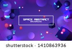 space abstract background stars ... | Shutterstock .eps vector #1410863936
