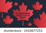 canadian armed forces day.... | Shutterstock .eps vector #1410877253