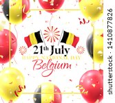 happy national belgium day card.... | Shutterstock .eps vector #1410877826