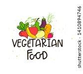 eco badge or tag  bio green... | Shutterstock . vector #1410894746