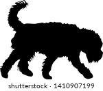 airedale terrier dog black... | Shutterstock .eps vector #1410907199