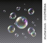 soap bubble with rainbow colors ... | Shutterstock .eps vector #1410908066