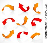 red and orange arrows   Shutterstock .eps vector #141092260
