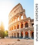 colosseum  or coliseum. morning ... | Shutterstock . vector #1410924293