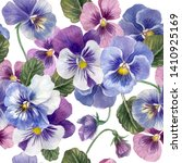 Seamless Pattern With Pansy...