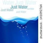 water illustration  place for... | Shutterstock . vector #141092764