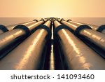 tubes running in the direction... | Shutterstock . vector #141093460