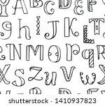 doodle letters pattern.... | Shutterstock .eps vector #1410937823