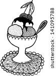 ice cream. hand drawn... | Shutterstock .eps vector #141095788