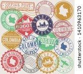 bogota colombia set of stamps....   Shutterstock .eps vector #1410963170