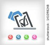 vote concept icon | Shutterstock .eps vector #141098248