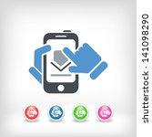 download smartphone icon   Shutterstock .eps vector #141098290