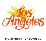 los angeles international... | Shutterstock .eps vector #141098500