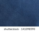 Close Up Of A Blue Leather...