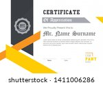 elegant certificate of... | Shutterstock .eps vector #1411006286