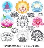 Set Of Lotuses And Esoteric...