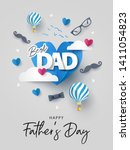 happy father's day greeting... | Shutterstock .eps vector #1411054823