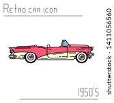 color vector icon american... | Shutterstock .eps vector #1411056560