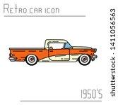 color vector icon american... | Shutterstock .eps vector #1411056563