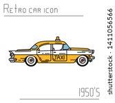 color vector icon american taxi ... | Shutterstock .eps vector #1411056566