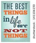 typographic poster design   the ... | Shutterstock .eps vector #141106150