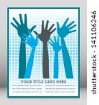 happy hands design with copy... | Shutterstock .eps vector #141106246