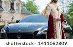 pakistani indian groom showing... | Shutterstock . vector #1411062809