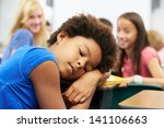 unhappy girl being bullied in... | Shutterstock . vector #141106663