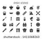 dish icon set. 30 filled dish... | Shutterstock .eps vector #1411068263